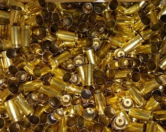 9mm Brass Spent Bullet Casing! Empty Spent Pistol Ammo Cartridge Shells!