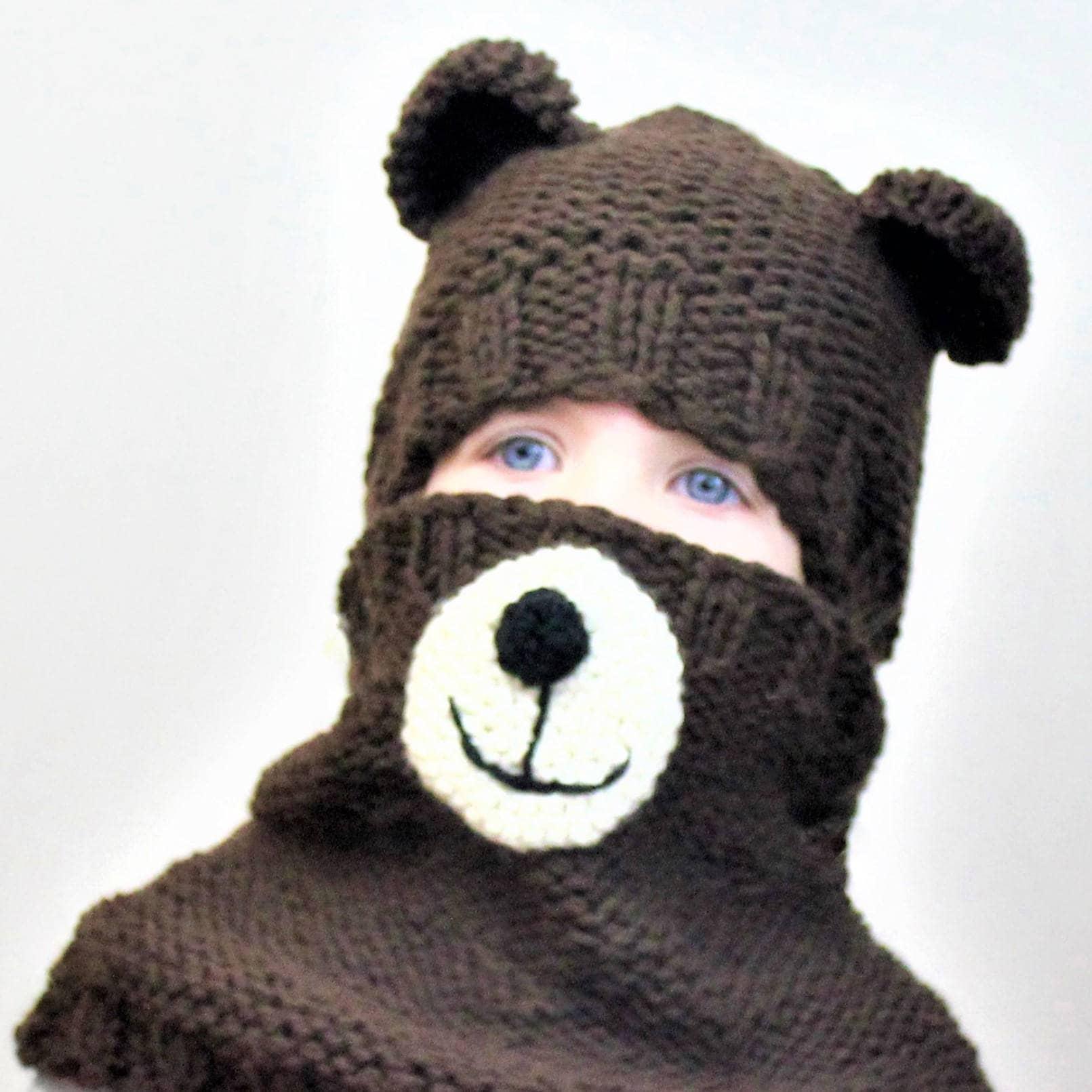 Knitting pattern patron tricot pdf bertie bear set hatcowl this is a digital file bankloansurffo Gallery