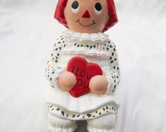 "Ceramic ""Raggedy Ann"" to Sit on Shelf"