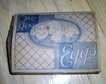 Antique Chicken Egg Carton-1930's