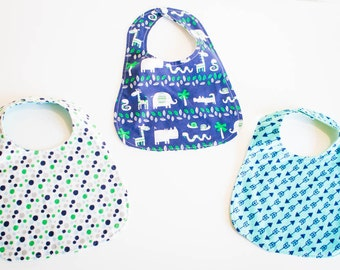 Modern Flannel Backed Baby Bibs  (Free Shipping)