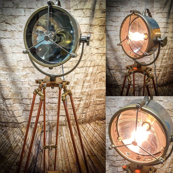 Marine spotlight floor lamp