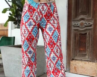 Vintage 1970's Aztec Print Pants