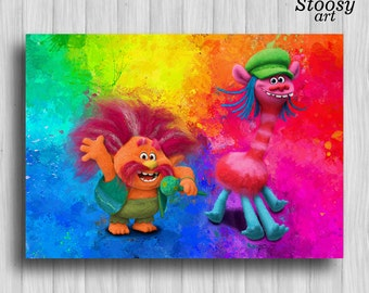 Trolls Wall Decor Trolls Movie Printable Print Birthday Coop On Trolls Bedding Bedroom Furniture Poppy