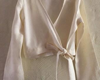 Wrap top linen