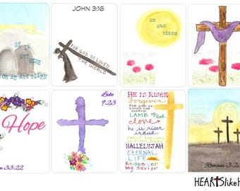 Easter, April, HeartslikeHis stickers (420), Christian planner, ERIN CONDREN, Life Planner, full box