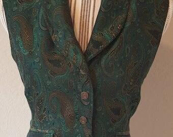 Vintage Green Pasley Vest
