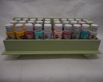 Acrylic Paint Tray Holder - Green