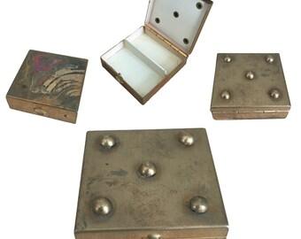 Vintage Brass Hinged Pill Box