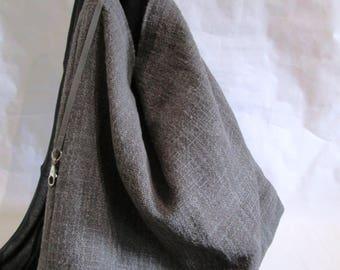 grey jute bag