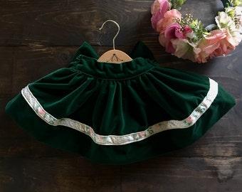 velvet skirt - cotton velvet skirt - easter skirt - toddler skirt - easter - toddler - baby skirt - baby - birthday skirt