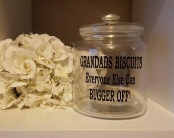 Biscuit Jar Cookie Jar Tin Personalised