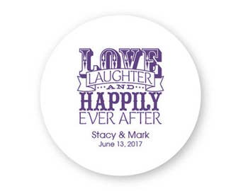 Love Laughter and Happily Ever After Coasters - Wedding Coasters - AA1001411