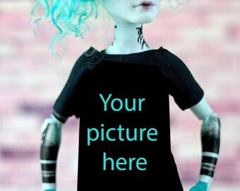 CUSTOM  T-shirt for Boy Monster High - Handmade Doll Clothes
