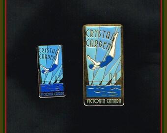Crystal Garden Pin with Matching Fridge Magnet