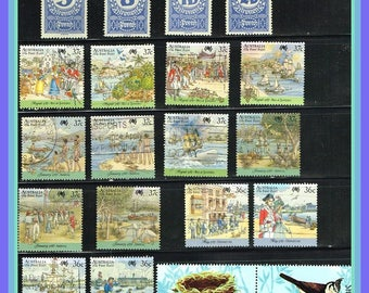 80 Worldwide Stamp Mix - All Different World Wide Postage Stamps Group