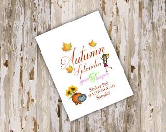 Autumn Splendor Sampler Sticker Pad