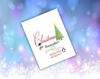 Christmas Sticker Pad Sampler