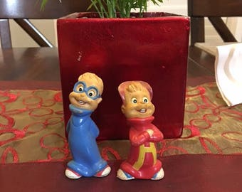 Vintage Alvin and Theodore Figure Set Alvin And The Chipmunks