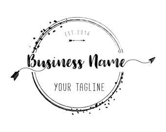 Custom logo design, Arrow logo,  Black round circle watermark photography logo Round logo design Business logo design for photography