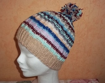 knitted colorful cap for children, boys