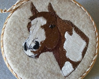 Embroidery Paint Horse Head Ornament