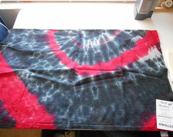 100% hand dyed scarf approximately 18X28 MMBD25