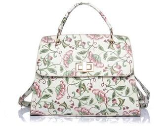 Floral Embroidered Print Shoulder Bag