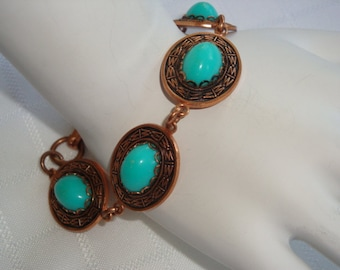 AMAZING Copper and Agate Bracelet