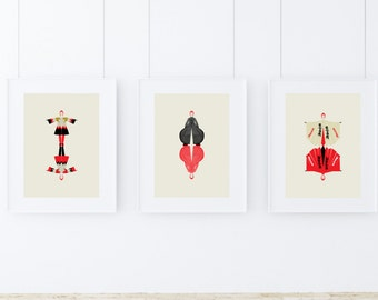 David Bowie Collection : Set of 3 David Bowie Art Prints at a special price for the season