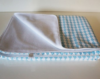 Baby fleece blanket and cotton fabric