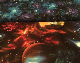 Robert Kaufman Stargazers Space Fabric Planets by the half yard