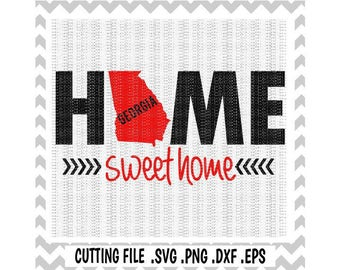 Georgia Svg, Georgia Home Sweet Home, Svg-Dxf-Eps-Png, Cutting File For Cricut, Silhouette Cameo & More.