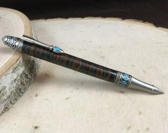 Antique Pewter Southwest Mesa Twist Pen - Southwest Laminate - Inv #189
