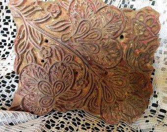 Vintage  Printing Block Wooden Hand carved