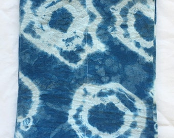 Shibori Rings Indigo Cotton Baby Burp Cloth