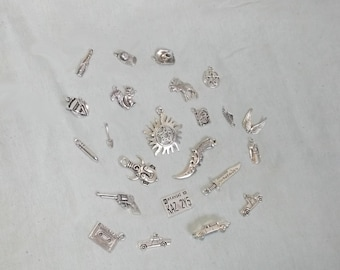 Charm Bracelet, Choose Your Own Charms Bracelet,  SPN Inspired Charm Bracelet,  Gift for Her