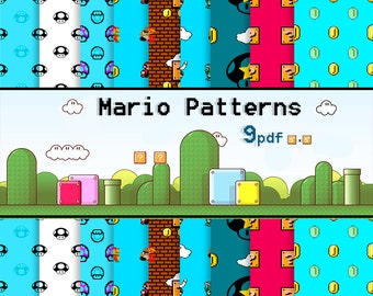 Mario B. 9 Patterns 90% Off SALE Digital Paper Pack --- Super OFFER