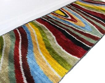 Sale! 25% off! Regular price - 39.99! Silk Velvet Fabric,Velvet Upholstery Fabric, Velvet, Silk Velvet, Hand Woven Fabric. V21