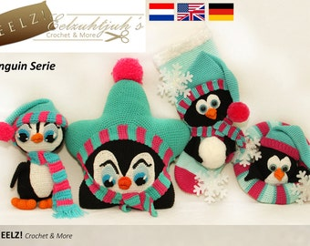 Penguin Serie - 4x Crochet Pattern