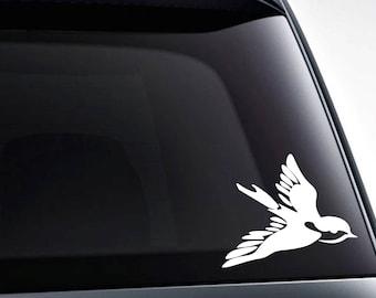 Old school swallow bird tattoo die cut vinyl decal sticker graphic / quality vinyl decals
