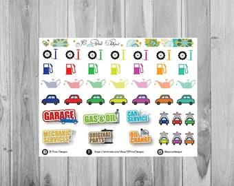 Cars Stickers, Plum Paper Planner Stickers, Plum Paper Sticker Designs, Functional Stickers, Cars Planner Stickers, Car Repairs Stickers
