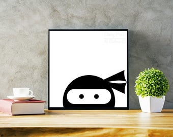 Peering Ninja Print