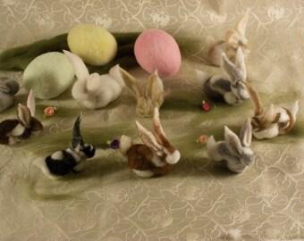 Needle Felted rabbit, Felt Bunny, Waldorf Rabbits, Easter Bunny