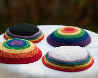 Gay Pride Rainbow Kippah
