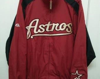 Rare Vintage HOUSTON ASTROS Spell Out Full Zipped Jacket Size XL Extra Large