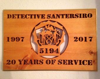 NYPD Detective Plaque