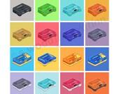 N64 Consoles Retro Pixel ...