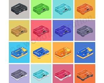 """N64 Consoles Retro Pixel Art Print 12"""""""