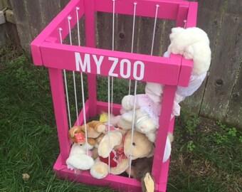 stuffed animal zoo - stuffed animal storage - my zoo - kids toy box - stuffed animal holder - christmas gift for kids - kids room decor
